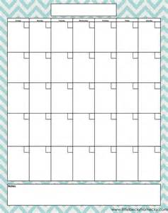 Free In Calendar Blank Monthly Calendar Printable Pdfs