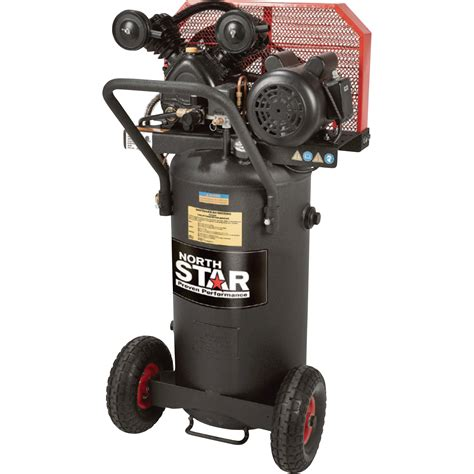 free shipping northstar single stage portable electric air compressor 2 hp 20 gallon