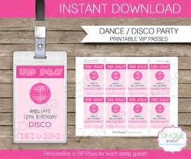 vip pass invitation template vip passes template disco favors