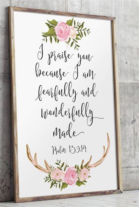 Wedding Bible Verses From Psalms by Nursery Bible Verses Psalm 139 14 I Praise You Nursery