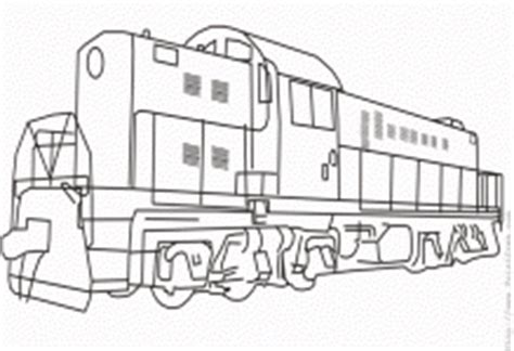 diesel train colouring pages