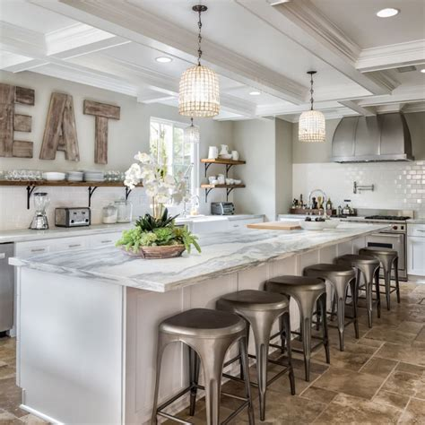 Decorating Ideas For Large Kitchen Island Decorating With Wooden Letters