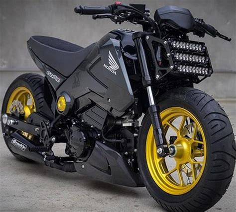 honda grom modified honda grom in fighter edition extravaganzi