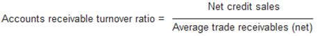 receivables turnover ratio explanation formula