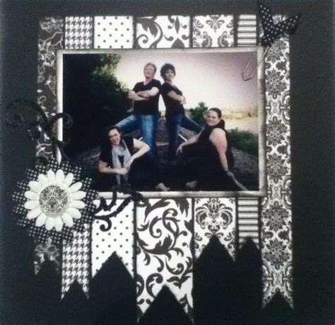 scrapbook layout black and white 33 best cm black white paper images on pinterest