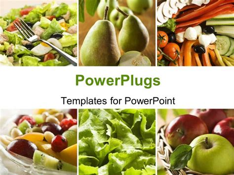 Powerpoint Template Collage Of A Healthy Vegetables And Fruit Food 30617 Healthy Food Powerpoint Template