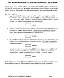 Letter To Teacher For Dentist Appointment Missed Appointment Letter Template 6 Free Word Pdf