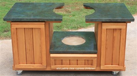 big green egg table cabinet green egg