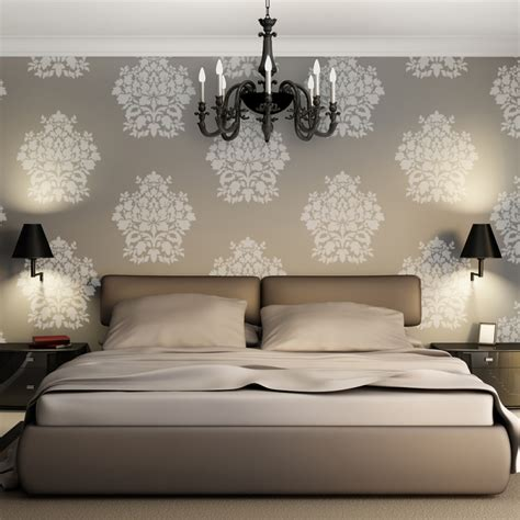 wallpaper design diy large wall damask stencil denise allover stencil for easy