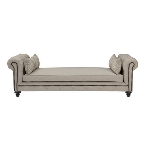 rolled arm chaise rolled arm tufted barley linen upholstered new chaise