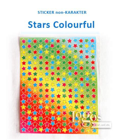 Stiker Laminasi Karakter 11 jual sticker non karakter colourful stiker hadiah anak bintang logos