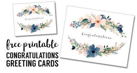 free greeting card printable templates congratulations card printable free printable greeting