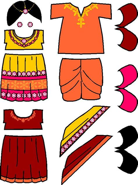 printable indian paper dolls 17 best images about countries of the world on pinterest