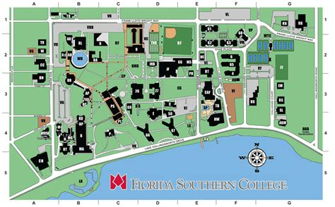 florida southern college map contact fsc visiting team guide