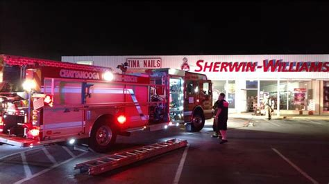 sherwin williams paint store chattanooga tn city firefighters save hixson business early sunday