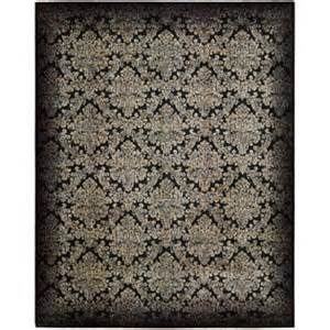 black damask area rug from sears