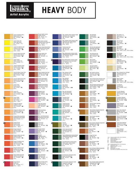 liquitex heavy color chart color stuff colors color charts and charts