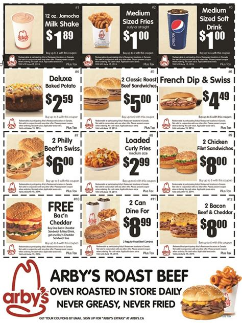 printable restaurant coupons calgary arby s restaurant canada new printable coupons canadian