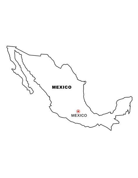 coloring page map of mexico mexico map coloring page murderthestout