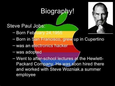 biography of steve jobs for students steve jobs