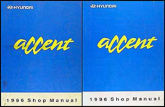 service repair manual free download 1996 hyundai accent electronic valve timing 1996 hyundai accent repair shop manual original 2 volume set