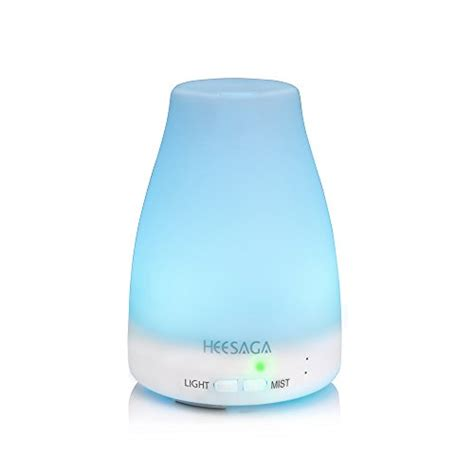 H05 Essential Diffuser Mist Aroma Humidifier 7 Colorl 400ml essential diffuser heesaga 120ml aroma essential cool mist humidifier with adjustable