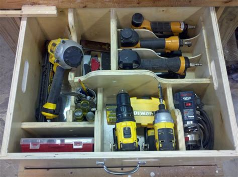 onsite woodworking removable shop drawers for better tool transportation and