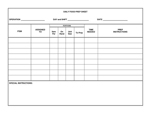 15 Best Images Of Daily Food Intake Worksheet Food Elimination Diet Diary Template Printable Kitchen Prep Sheet Template