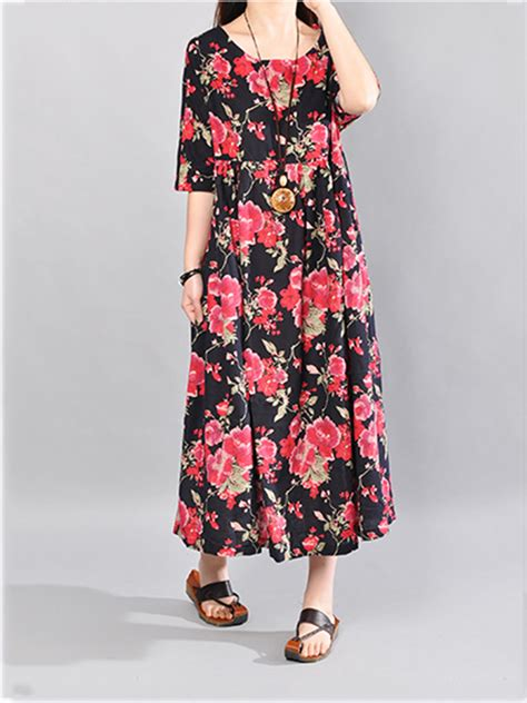 19346 Print Liise Dress plus size vintage floral print sleeve
