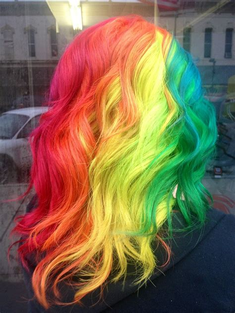 rainbow color hair ideas 25 impulsive rainbow hair color ideas hairstyle for women