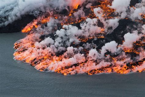what s in a lava l massive volcanic eruption is making iceland grow kuow