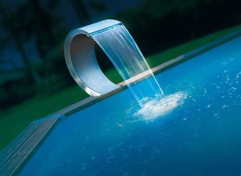 le de piscine led cascade de piscine en inox ubbink mamba led jardideco
