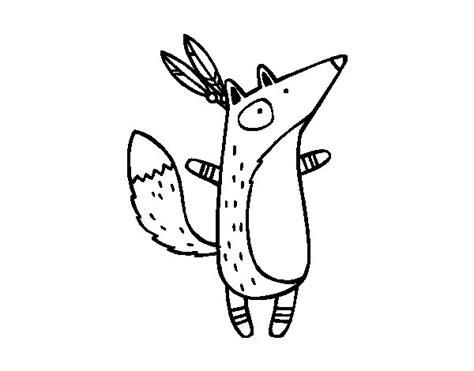 dibujos para colorear zorro dibujo de zorro indio para colorear dibujos net