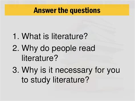 what is literature literature sessions 1 to 3