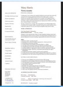 Curriculum Vitae Nurse Example by Curriculum Vitae Sample Format For Nurses