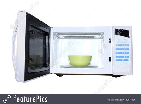 Microwave Oven Ur 1807 kitchen microwave oven with plate stock photo i2977081
