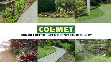 col met steel landscape edging attached stake removal