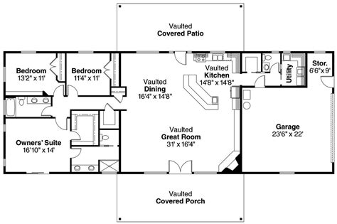 ranch style floor plans open 15 best ranch house barn home farmhouse floor plans