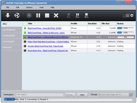 download mp3 from youtube to ipod imtoo youtube to iphone converter 3 0 1 0309