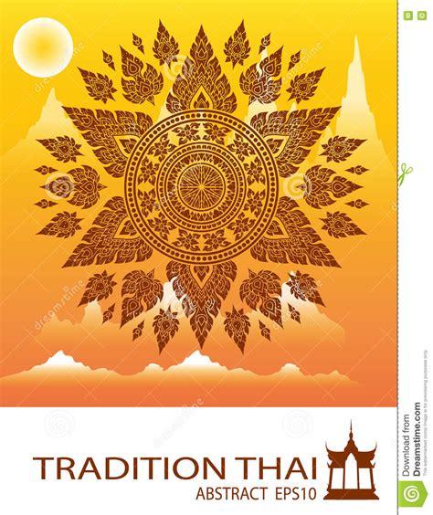 thai design outline thai tradition thai design vector stock vector image 73075124