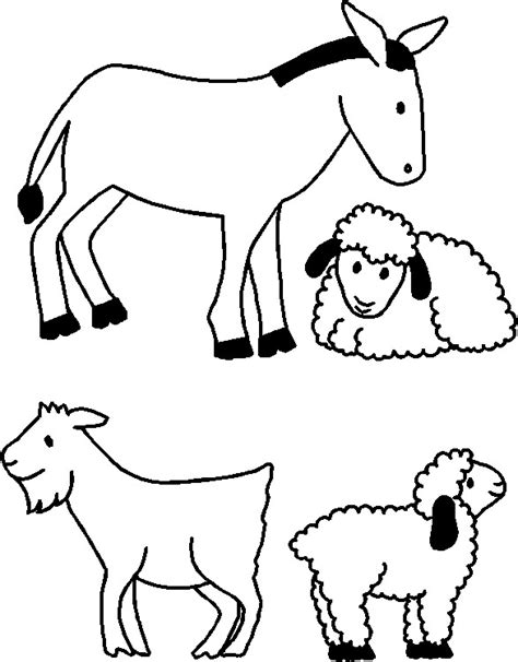 nativity scene animals coloring pages free coloring pages of nativity animals