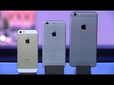 frente a frente iphone 6 plus iphone 6 y el iphone 5s