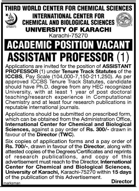 mitsubishi corporation international scholarship assistant professor in of karachi pakistan