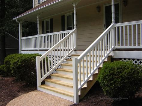 Vinyl Handrails For Stairs synthetic and vinyl decks stairs and railings traditional exterior other metro by