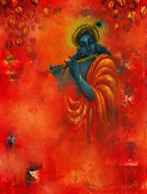 painting and krishna paintings saatchi krishna painting akshit
