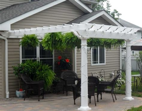 vinyl pergola materials attached vinyl pergola kits pergola gazebo ideas