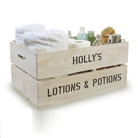Bathroom Storage Boxes Personalised Bathroom Storage Crate By Plantabox Notonthehighstreet