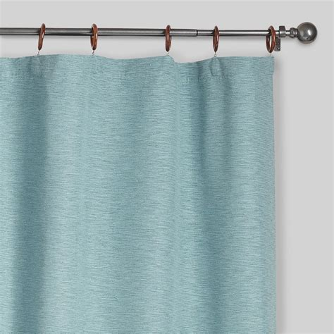 canvas curtain aqua jaya canvas curtains set of 2 world market