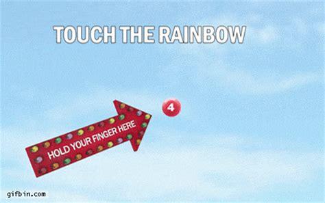 Taste The Rainbow Meme - touch the rainbow damn lol