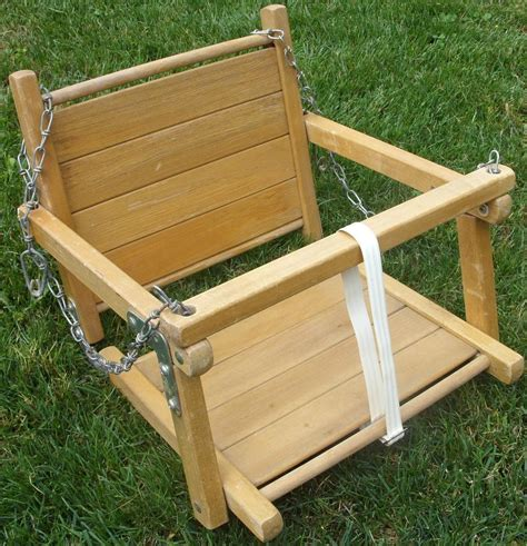 swing wooden vintage wooden toddler swing wood child safety swing with